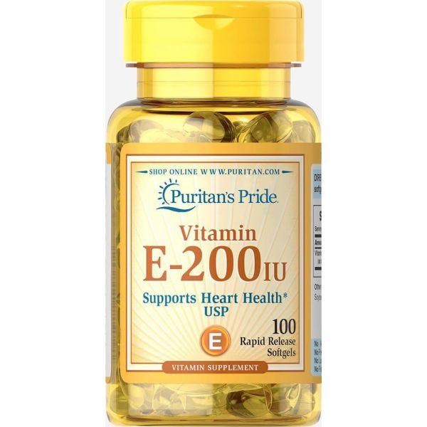Витамин Е (Vitamin E) 200 МЕ 100 капсул