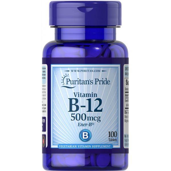 Витамин В-12 (Vitamin B-12) 500 мкг 100 таблеток