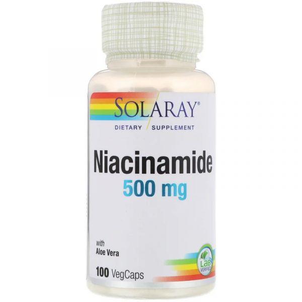 Никотинамид (Niacinamide) 500 мг 100 капсул