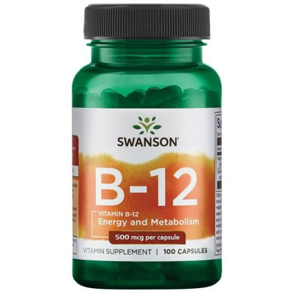 Витамин В12 (Vitamin B-12) 500 мкг 100 капсул