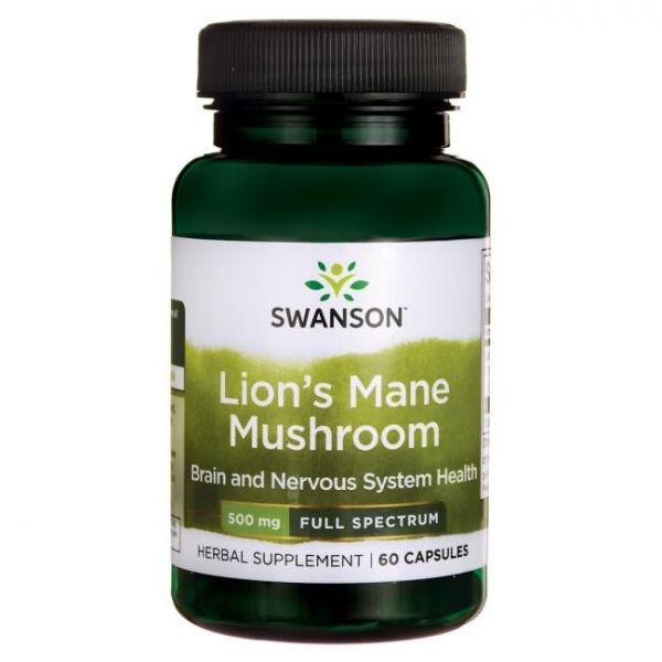 Ежовик гребенчатый (Lion's Mane Mushroom) 500 мг 60 капсул