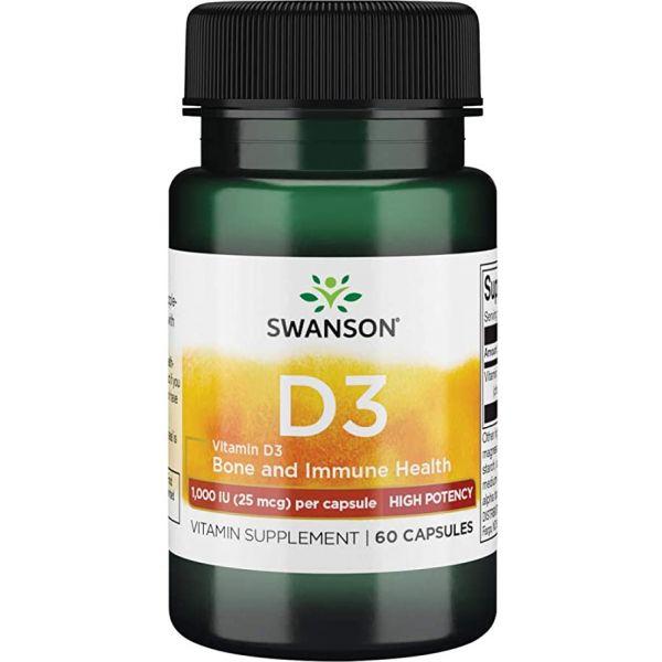Витамин Д3 (Vitamin D3 Higher Potency) 1000 МЕ 60 капсул