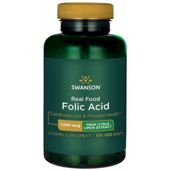 Витамин B9 (Ultra Real Food Folic Acid) 1000 мкг 100 капсул